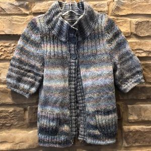 Express cardigan high neck multi color button M